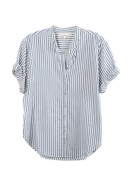 Xirena Kayden Shirt - Marine/Blue Stripe