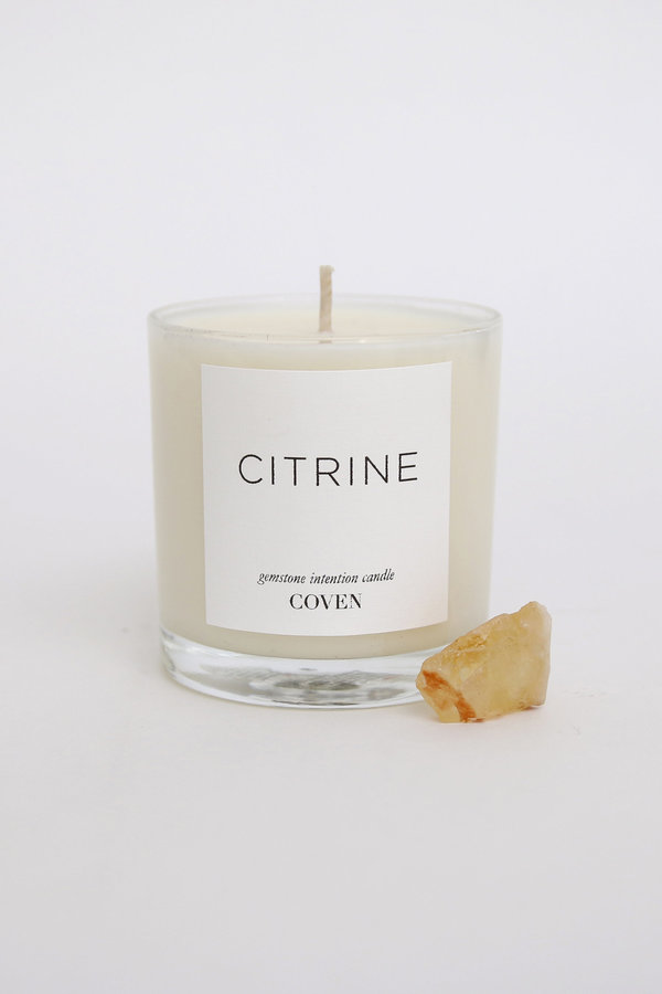 Coven Citrine Gemstone Intention Candle