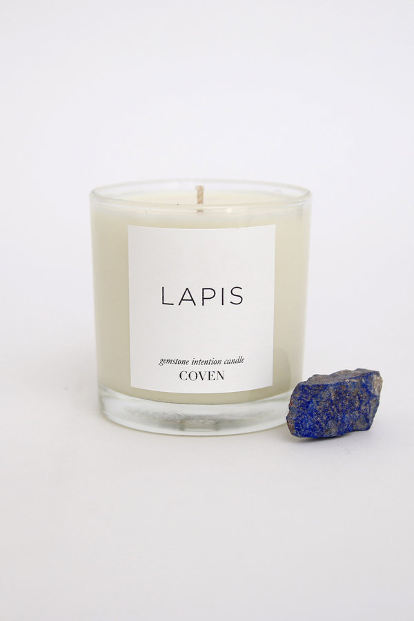 Coven Candles Lapis Gemstone Intention Candle