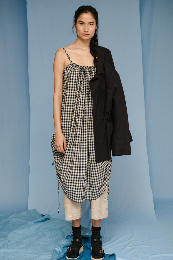 Caron Callahan ANNA DRESS in Black & White Gingham
