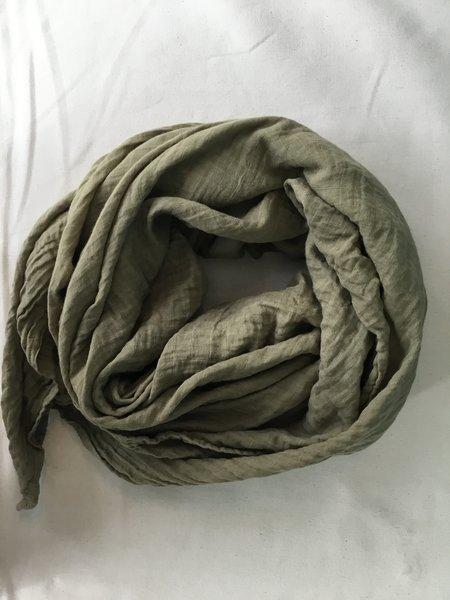Dear Indigo army green scarf