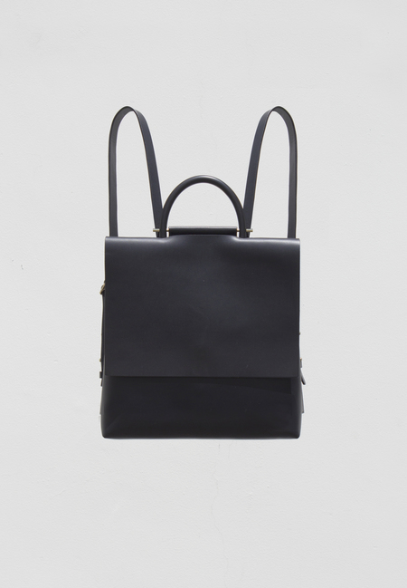 Building Block Mini Rucksack in Black