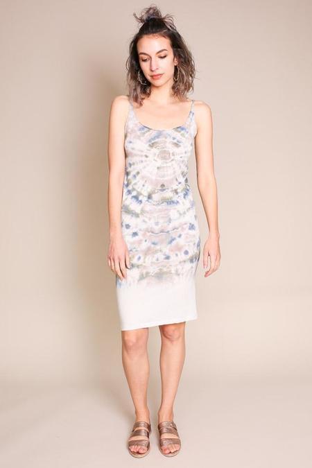 Raquel Allegra Layering Tank Dress in Earth Tie Dye