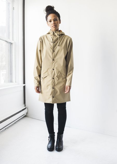 Unisex Rains Long Jacket in Desert