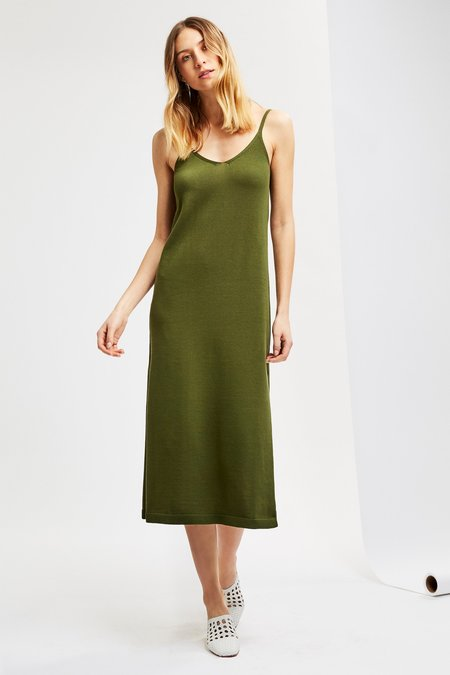 Mila Zovko Petra Dress in Dark Moss