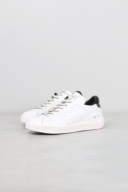 Leather Crown Donna Iconic Midtop Sneakers - White/Black
