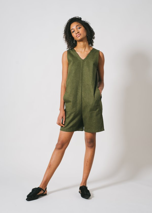 REIFhaus Lou Romper in Olive