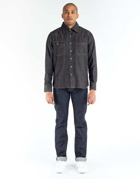 Tellason Topper Denim Shirt - Raw Blue