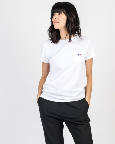 Maison Kitsune Tricolor Fox Pocket Tee