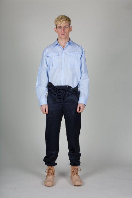 Unisex Y/project Adjustable Waist Satin Trousers