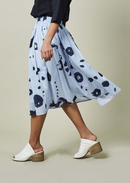 Yoshi Kondo Lilac Pleated Skirt