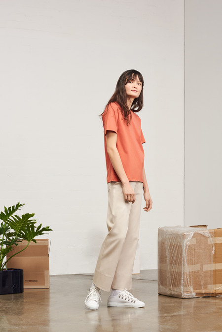 Kowtow Building Block Classic Fit Tee in Peach