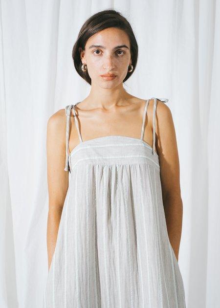 REIFhaus Selene Dress in Aqua Stripe