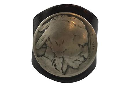 Yuketen Leather Ring - Indian Head Shell Cordvan