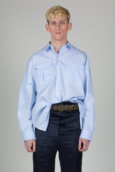 Unisex Y/project Military Belted Boxy Shirt