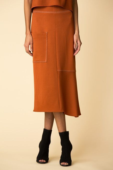 Tibi Viscose Crepe Asymmetrical Skirt