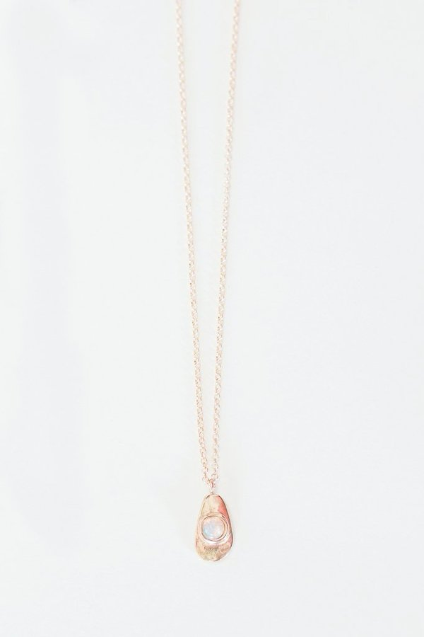 Seaworthy Agua Necklace with Opal in Brass