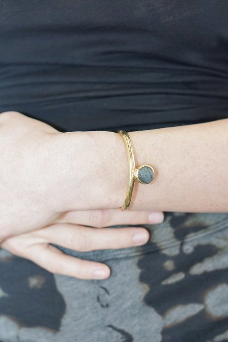 Seaworthy Sonia Cuff with Labradorite in Brass