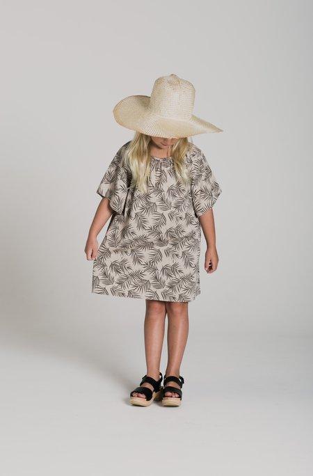 Kids Rylee & Cru JAIME DRESS - PALM LEAF PRINT