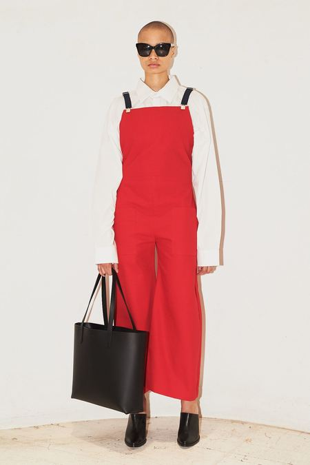 Assembly New York Oversized Cotton Overalls - Red