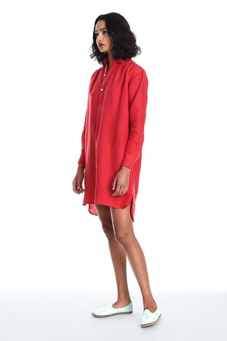 Blluemade French Dress in Poppy