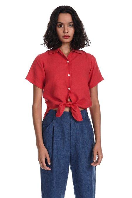 Blluemade Hawaiian Shirt in Poppy