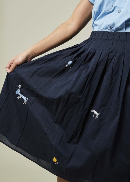 Yoshi Kondo Avion Embroidered Skirt