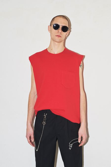Assembly New York Cotton Terry Muscle Tee - Red