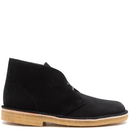 Clarks Originals DESERT BOOT MADE IN ITALY - BLACK SUEDE