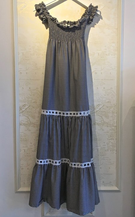 Holy Caftan Alga Off the Shoulder Smocked Maxi Dress with Bow