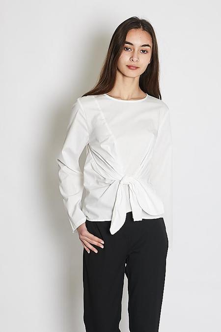Just Female Ady Blouse - Optical White