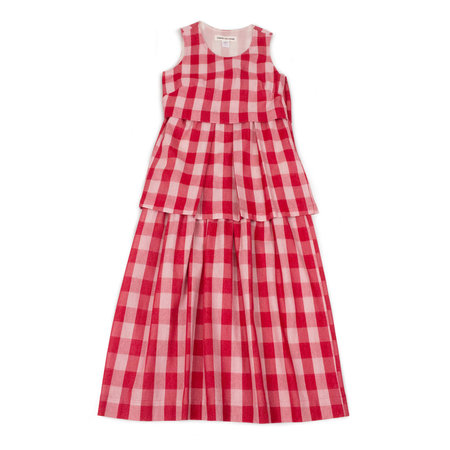 Caron Callahan Camille Dress in Red Gingham