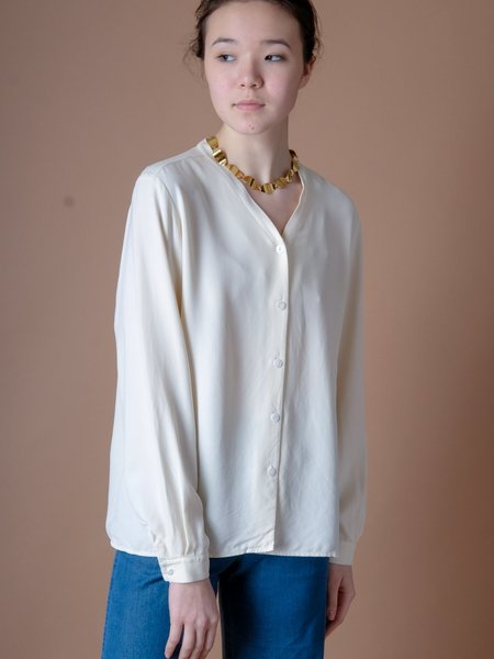 Shop Boswell VINTAGE CREAM SILKY TOP