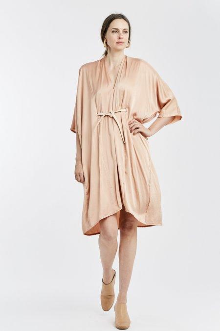 Miranda Bennett O'Keeffe Dress - Silk Charmeuse in Bardot