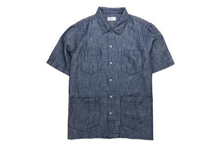 Universal Works Cuban Shirt Indigo Afro Chambray