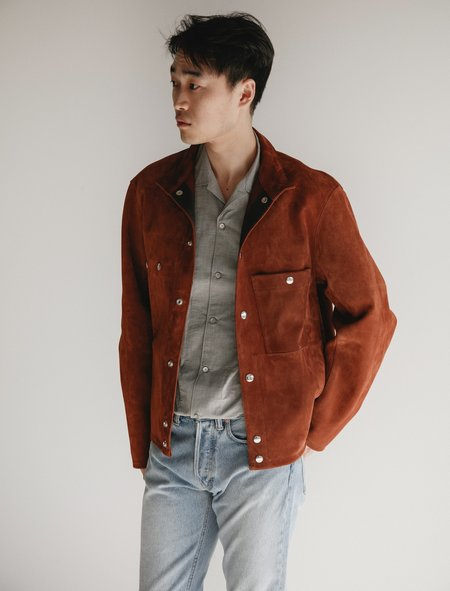 Lemaire Blacksmith Leather Jacket - Tobacco