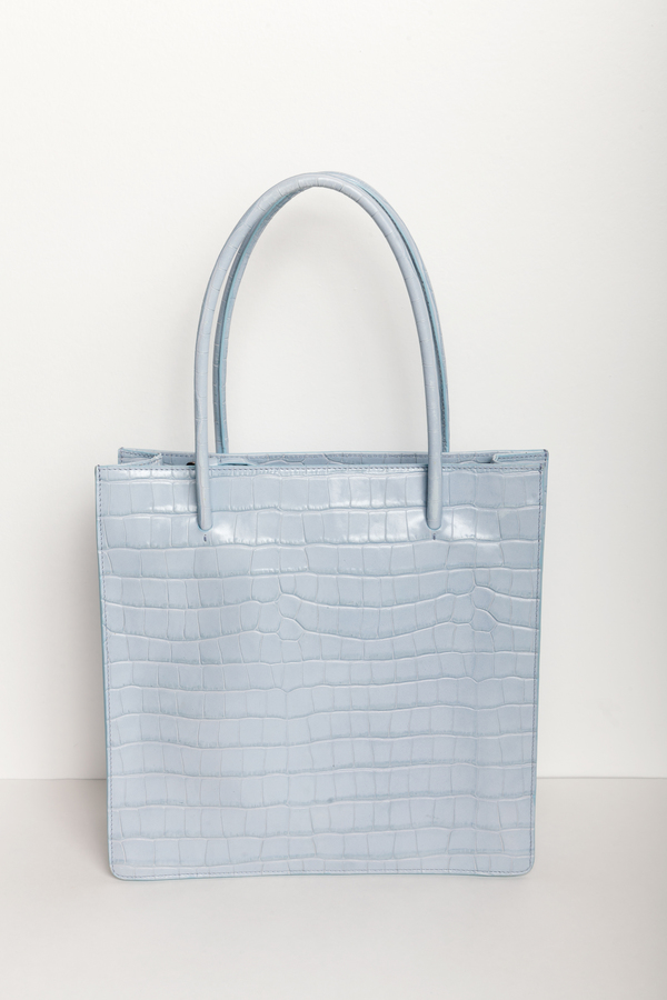 Maryam Nassir Zadeh Anais Tote in Mist Faux Croc