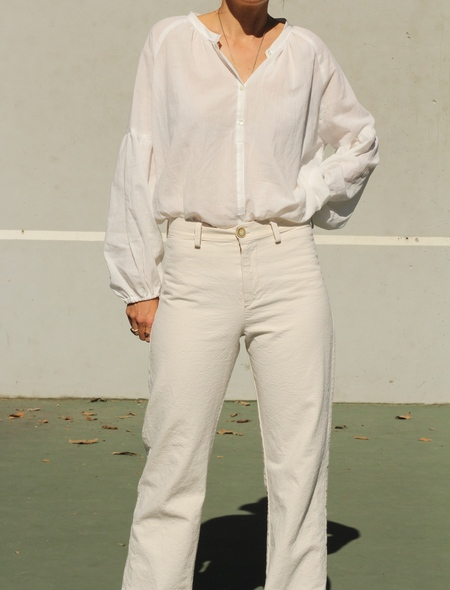 lindsay robinson Field Blouse in White