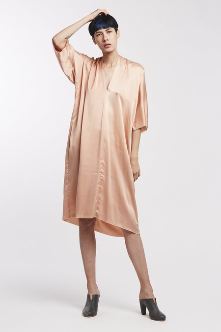 Miranda Bennett Ed. VIII Muse Dress - Silk Charmeuse in Bardot