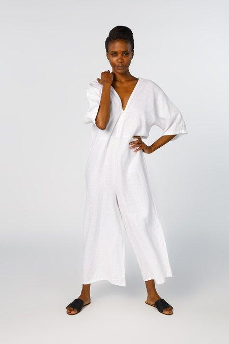 Miranda Bennett Muse Jumpsuit - Linen in White