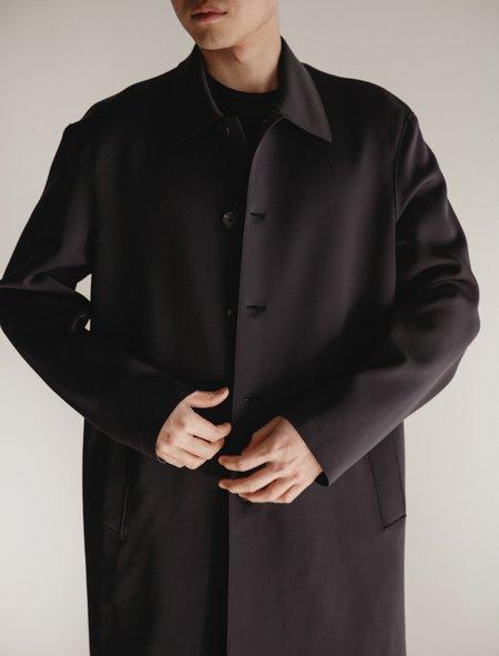 Harris Wharf Mac Overcoat  - Technic Midnight