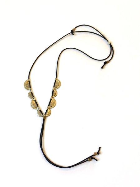 SAINT CLAIR Suncup Necklace - White Bronze