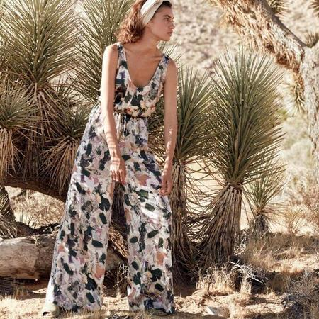Chistine Alcalay Sleeveless Jumpsuit in Paint Print