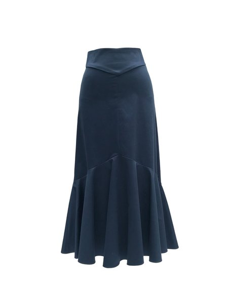 Chistine Alcalay Trumpet Skirt in Sateen