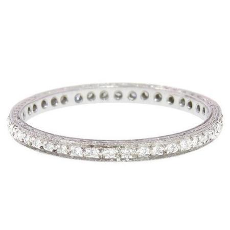 Cathy Waterman Ring - Thin Pave Diamond Band