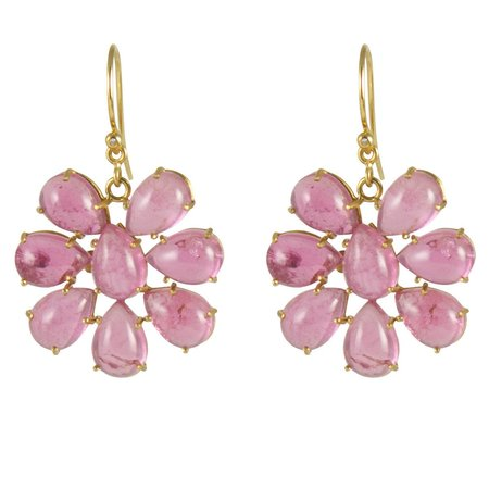 Irene Neuwirth Pink Earrings - Tourmaline Cluster