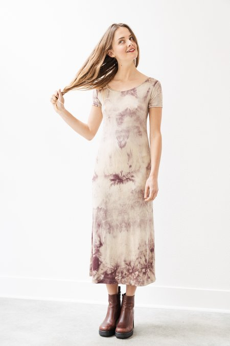 Backtalk PDX Vintage Sheer Tie Dye Midi Dress