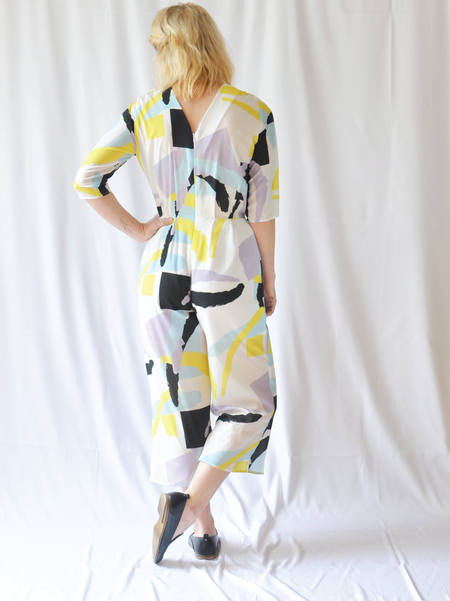 "One Imaginary Girl ""Art School"" Printed Jumpsuit"