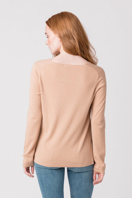 T by Alexander Wang Long Sleeve V Neck Sweater