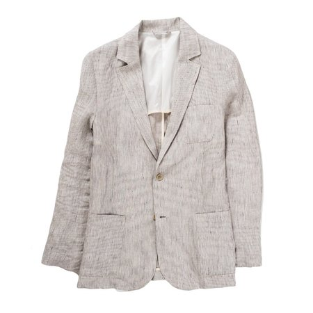 Corridor Natural Ticking Stripe Linen Blazer